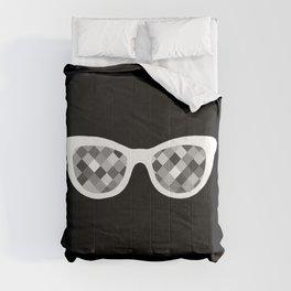 Diamond Eyes White on Black Comforters