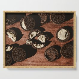 Delicious Oreo cookies in the sunlight Serving Tray