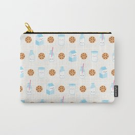 Milk and Cookies Pattern on Cream Carry-All Pouch