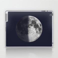 First Quarter Moon on Navy Laptop & iPad Skin