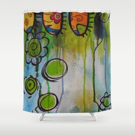 Fairies in the Forest Shower Curtain