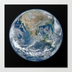 Planet Earth The Blue Marble 2012 Canvas Print
