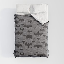 Balinese Bat Colony Print - Gray Comforters