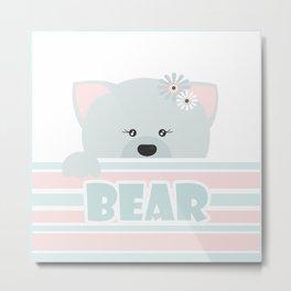 A curious bear . Metal Print