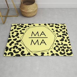 MAMA surrounded by tiger pattern Rug