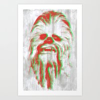 chewbacca Art Prints featuring Chewbacca by mangen