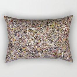 Intergalactic - Jackson Pollock style abstract painting by Rasko Rectangular Pillow