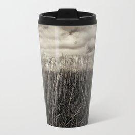Beach Grass in Black & White Travel Mug