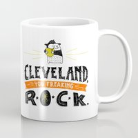 cleveland Mugs featuring Cleveland Rocks by Alex McClelland