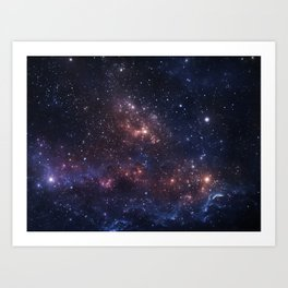 Stars and Nebula Art Print
