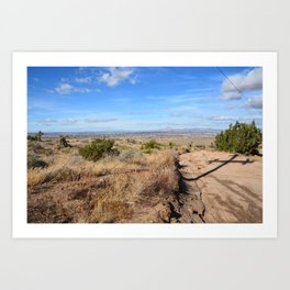 Clouds and Shadows Cast in the California Desert Art Print