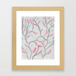 Magnolia Branches Framed Art Print
