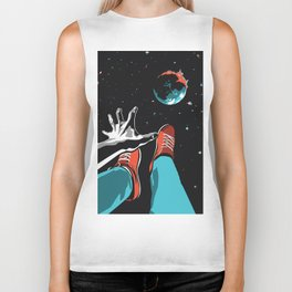 The Point of No Return Climate Change Art Print Biker Tank