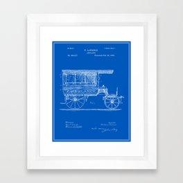 Paramedic framed art prints society6 vintage ambulance patent blueprint framed art print malvernweather Image collections