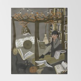 floating books ii Throw Blanket