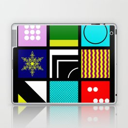 Eclectic 1 - Random collage of 9 bold colourful patterns in an abstract style Laptop & iPad Skin
