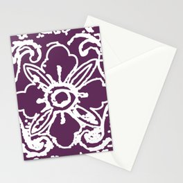 Tibetan flower purple Stationery Cards