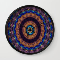 Peacock Pinwheel Wall Clock