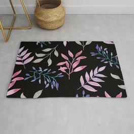 Watercolor Leaves Pattern Rug