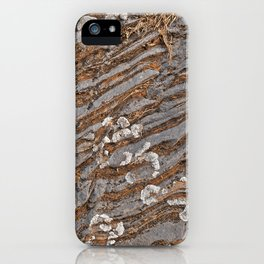 Cracked Stone Striations iPhone Case