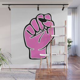 Pink female fist Wall Mural