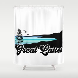 Great Lakes Coast Shower Curtain