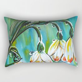 Drips on droopy flowers Rectangular Pillow