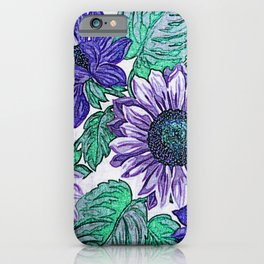Large Purple Flowers iPhone Case