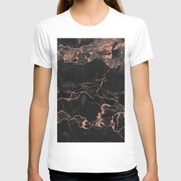 Black Marble and Rose Gold T-shirt