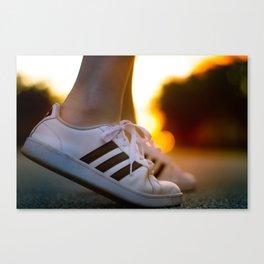 Sneaker Sunset Canvas Print