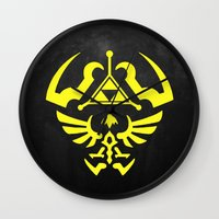 hyrule Wall Clocks featuring Hyrule Shield  by WaXaVeJu