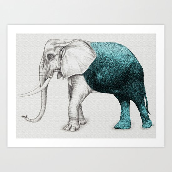 The Stone Elephant Art Print