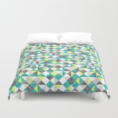 scribble triangles Duvet Cover