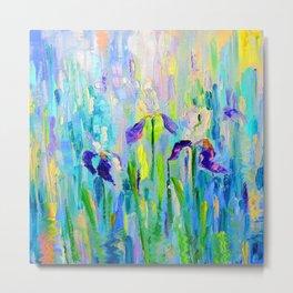 "Abstraction of ""Irises"". Metal Print"