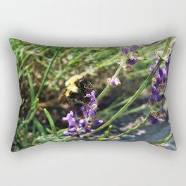 Lavender Bumble Bee Rectangular Pillow