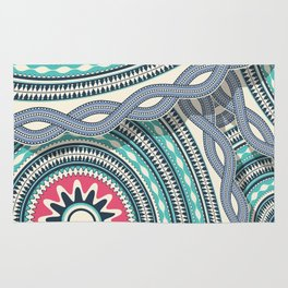 Abstract tribal background Rug