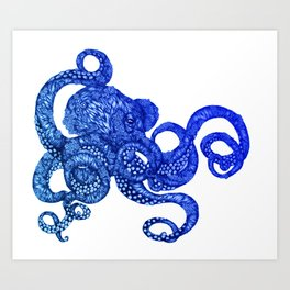 Ombre Octopus Art Print
