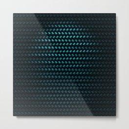 indigo carbon Metal Print