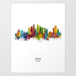 Doha Qatar Skyline Art Print
