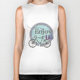 enjoy life / old bike / retro  Biker Tank