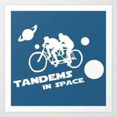 Tandems in Space in Blue Art Print