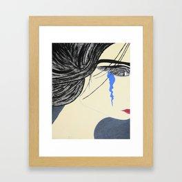 A Single Tear (light) Framed Art Print