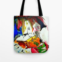 joy Tote Bags featuring Joy by Aaron Carberry