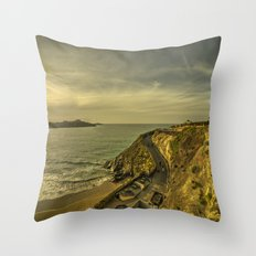Newquay Great Western Beach Throw Pillow