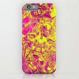 Pink Stickers iPhone Case
