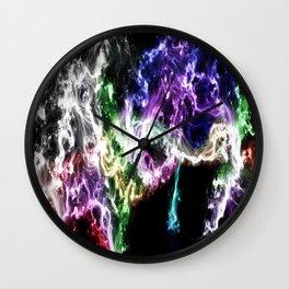 Smoke and Stars Wall Clock