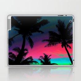 Deep Pink Palm Tree Sunset Laptop & iPad Skin