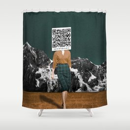 Scan my QR Code to add me Shower Curtain