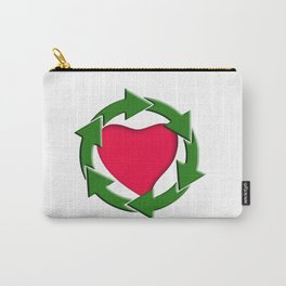 Recycle In Heart Carry-All Pouch