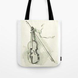 Violin, Vintage Old Book Illustration Tote Bag